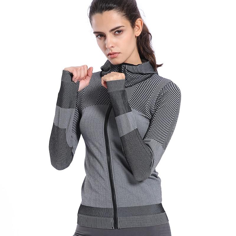 BINAND Women Profession Jogging Gym Nylon Sports Hoodie High Elastic Tight Sweat-wicking Slim-fit Fitness Hooded Sweatshirts