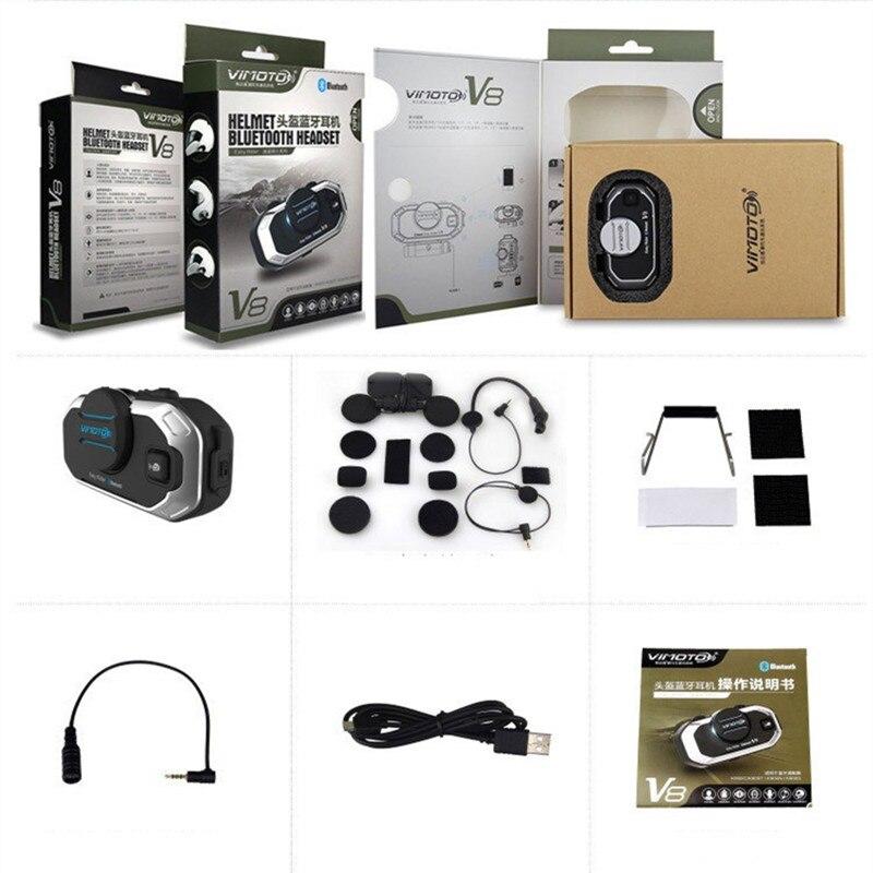 Angielska wersja Easy Rider 2 zestawy Vimoto V8 zestaw słuchawkowy Bluetooth do kasku motocykl słuchawki Stereo do telefonu komórkowego i Radio GPS