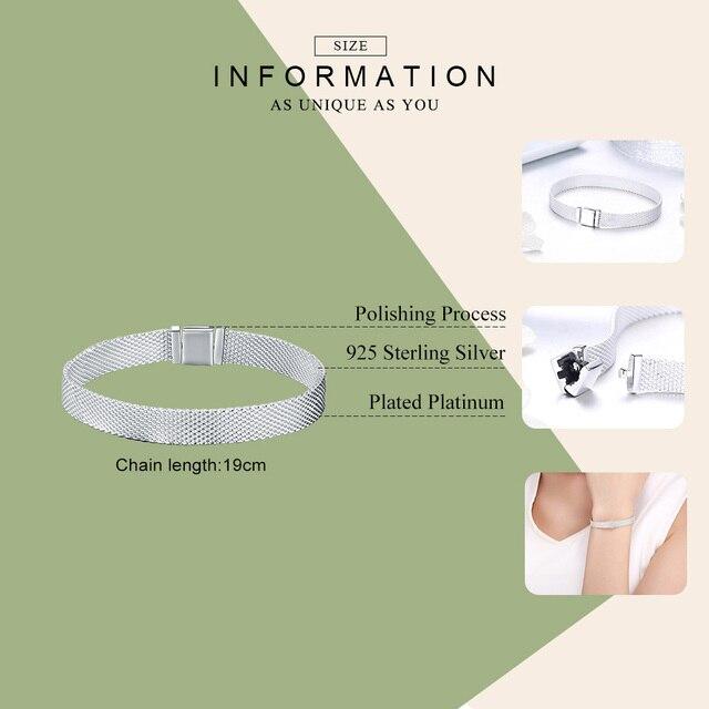 BAMOER Strand Bracelets Sterling Silver Metropolitan Style  1