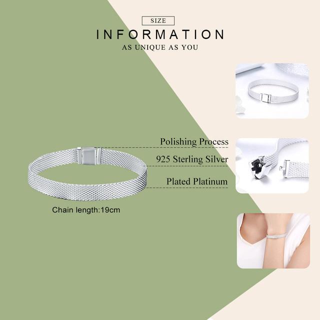 Strieborný náramok štýl Pandora 4veľkosti Silver Pandora Style Bracelet