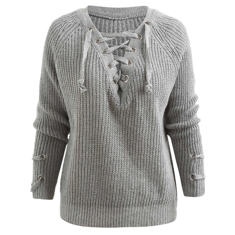 Autumn Winter Sweater Women V-Neck Casual Pullover Warm Long Sleeve Knitted  Sweaters Raglan Sleeve 28d111f0e
