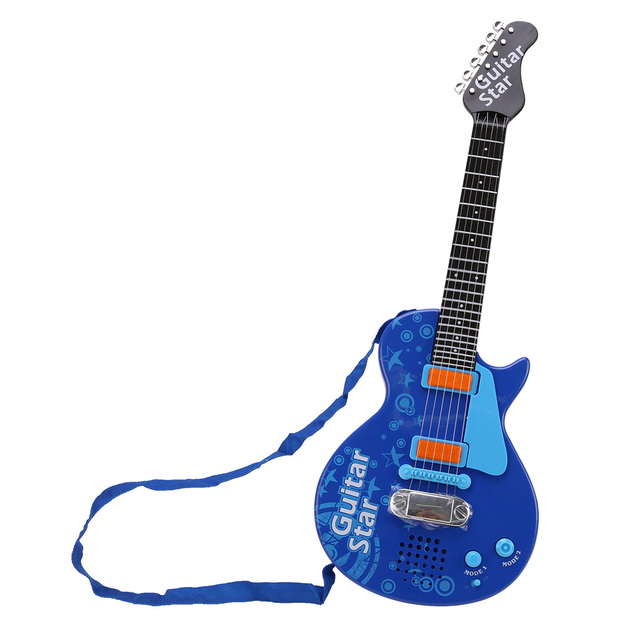 2018 New Arrive Electric Guitar Musical Instrument Toy for Children Learning Music Interest Development Kits- KSL355830
