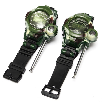 Camouflage Hot Way Radio Walkie Talkie Kids Child Spy Wrist Watch Gadget Toys Outdoor Interphone Toy Gift For Chirlden 1