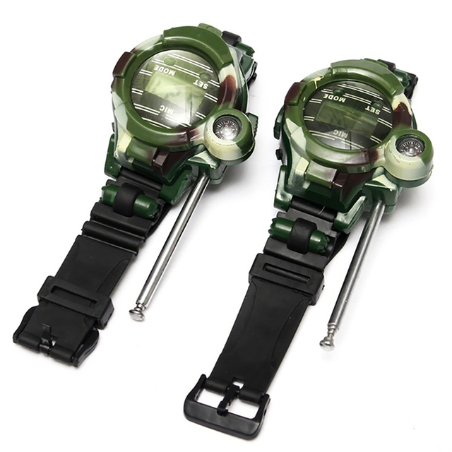 Camouflage Hot Way Radio Walkie Talkie Kids Child Spy Wrist Watch Gadget Toys Outdoor Interphone Toy Gift For Chirlden 1
