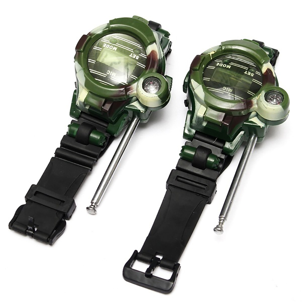 Camouflage Hot Way Radio Walkie Talkie Kids Child Spy Wrist Watch Gadget Toys Outdoor Interphone Toy Gift For Chirlden