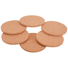 6 pcs Natural Round Cork Coaster Heat Resistant Cup Mug Mat Coffee Tea Hot Drink Placemat Tableware Decoration 6pcs lot round cork coaster heat resistant cup table placemats mug mat coffee tea hot drink posavasos placemat kitchen decor