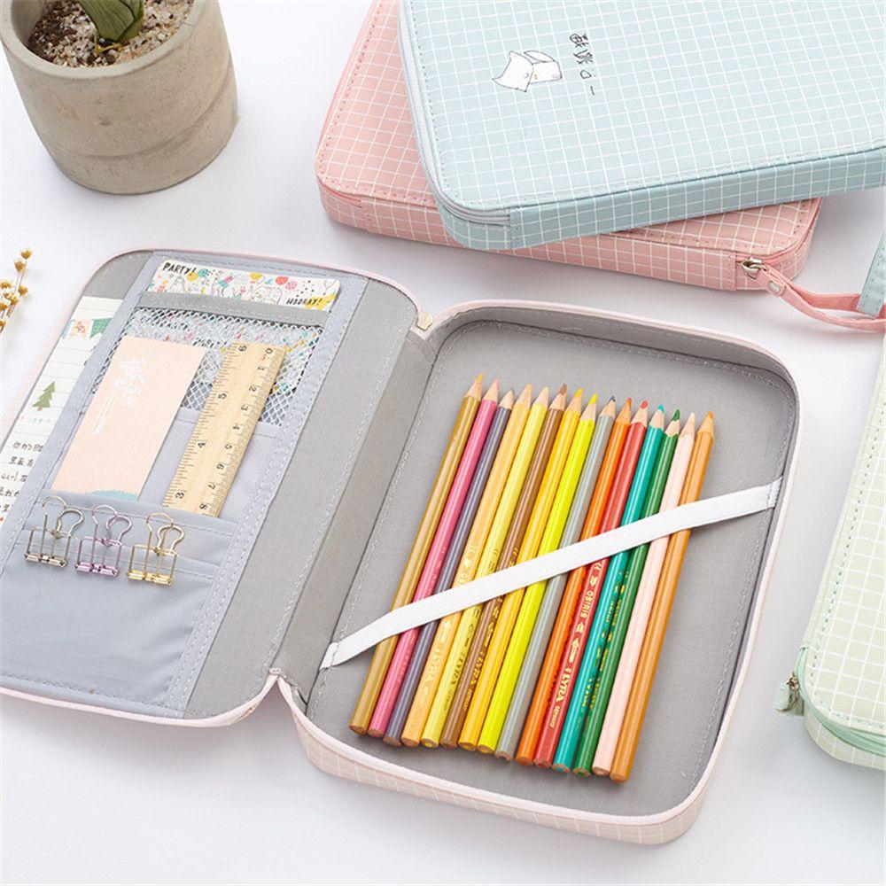 1 Pc Kreative Schreibwaren Für Schüler Macaron Farbe W41 R08 Box Für Ipad Telefon Bleistift Tasche