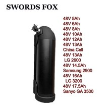 SWORDS FOX Great 48V 5 8 10 13ah to 17.5ah Black housing Li-ion Water Kettle bottle Battery 500W 750W 1000W for Sanyo Samsung(China)