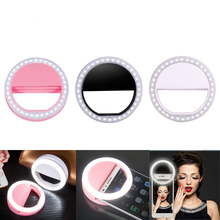 36Leds Novelty LED Selfie Light Photo Lamp 3 Levels of Brightness USB Charging Mobile Phone Live Makeup MBeauty Ring Fill Light