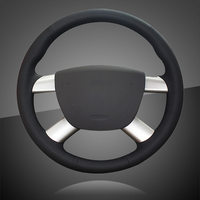 Microfiber Leather Car Braid On The Steering Wheel Cover for Ford Focus 2 2005 2011 for Ford Kuga 2008 2011 C MAX 2007 2010