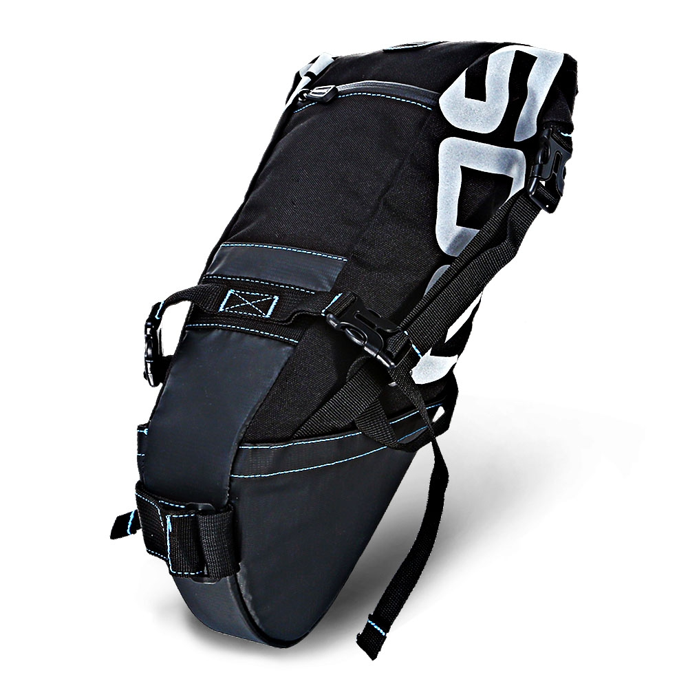 ROSWHEEL 131414 Water resistant 8L Bicycle Tail Bag Saddle Tube Pouch