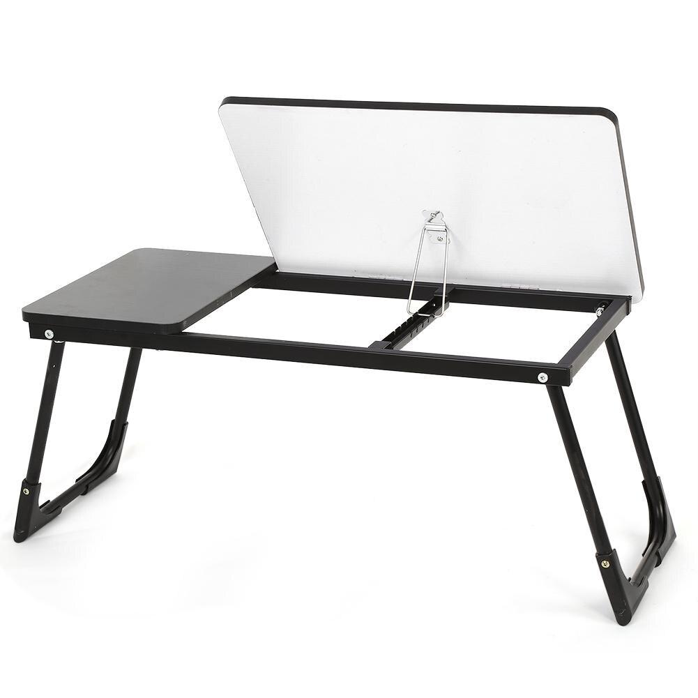 Foldable Wooden Laptop Desk Table Adjustable Breakfast Bed ...