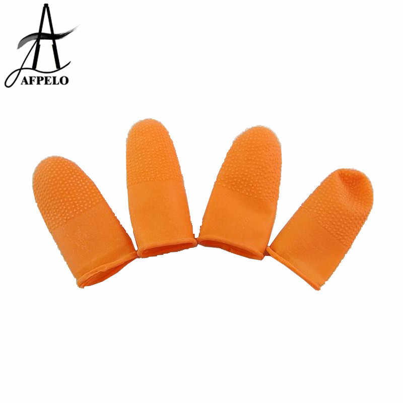 Venta al por mayor 1200 piezas de protección antideslizante dedos guantes de goma de látex dedo cunas antiestático guantes para extensiones de cabello de fusión