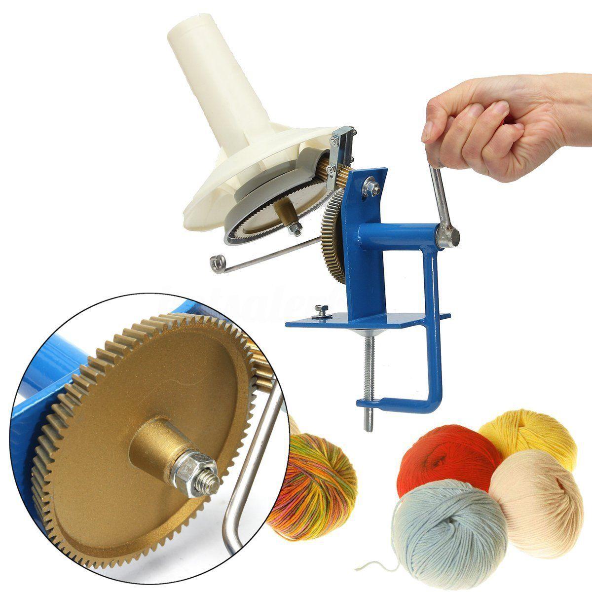 Manual de mano operado de bobinadora de hilo de fibra de lana Cadena de bola madeja de máquina de alta calidad de lana bola de hilo bobinado