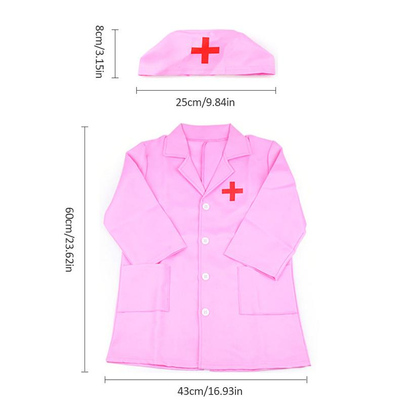 Novelty & Special Use Children Cosplay Doctor Costumes Halloween Party Nurse Wear Fancy Girls Clothing Set Toys Kids Jackets Roleplay Costumes & Accessories