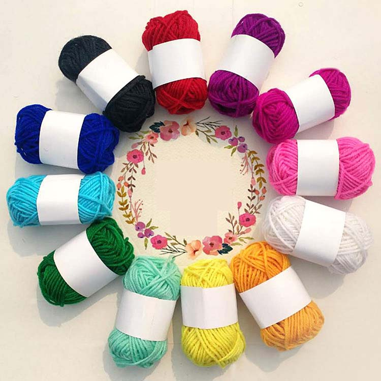 12 Color 120g/ball Acrylic Line Wool Yarn Thread Crochet Hook Weave Hand Knitting Soft Cotton Yarn For DIY Scarf Sewing Supplies
