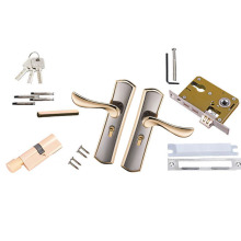 1 set Durable Door Handle Lock Alloy Sliding Door Lock Handl