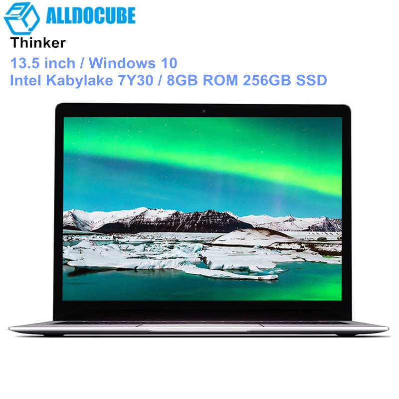 ALLDOCUBE Thinker Ultrabook 13.5 Inch Laptop Windows 10 Notebook Intel Kabylake 7Y30 8GB ROM 256GB SSD Fingerprint 3000*2000