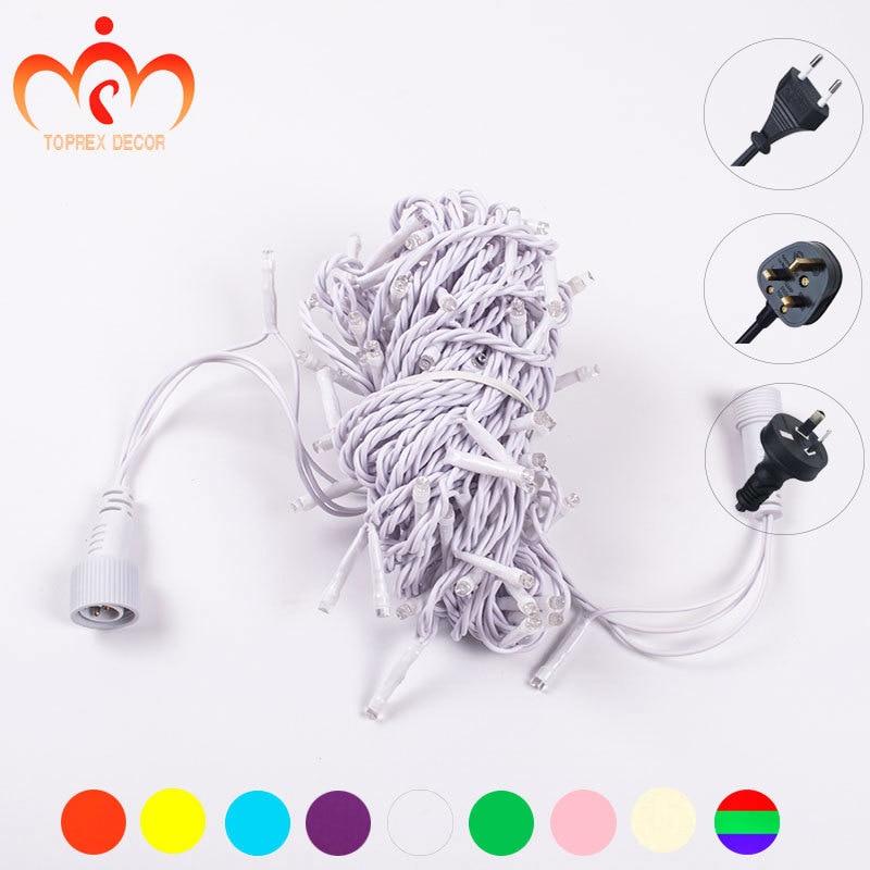 32,8 'Μήκος 100 LEDs λευκό PVC LED χορδή - Φωτισμός διακοπών - Φωτογραφία 3