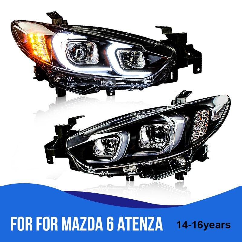 Roadot For Mazda 6 Headlights U Angel Eyes Drl For Mazda 6 Atenza 2014-2016 Led Light Car Drl Q5 Bi Xenon Lens H7 Xenon More Discounts Surprises