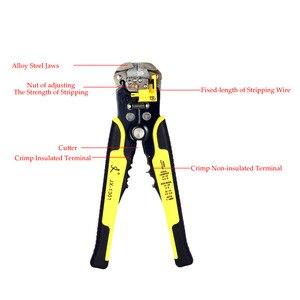 Image 3 - JX1301 Cable Wire Stripper Cutter Crimper Automatico Multifunzionale Stripping Tools Pinze di Piegatura Terminale di 0.2 6.0mm strumento mano