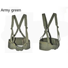 NEW hot Outdoor Tactica MOLLE Padded Waist  2 Inch Airsoft Sports clim Belt Plastic Buckle Hunting Army Military Adjustable