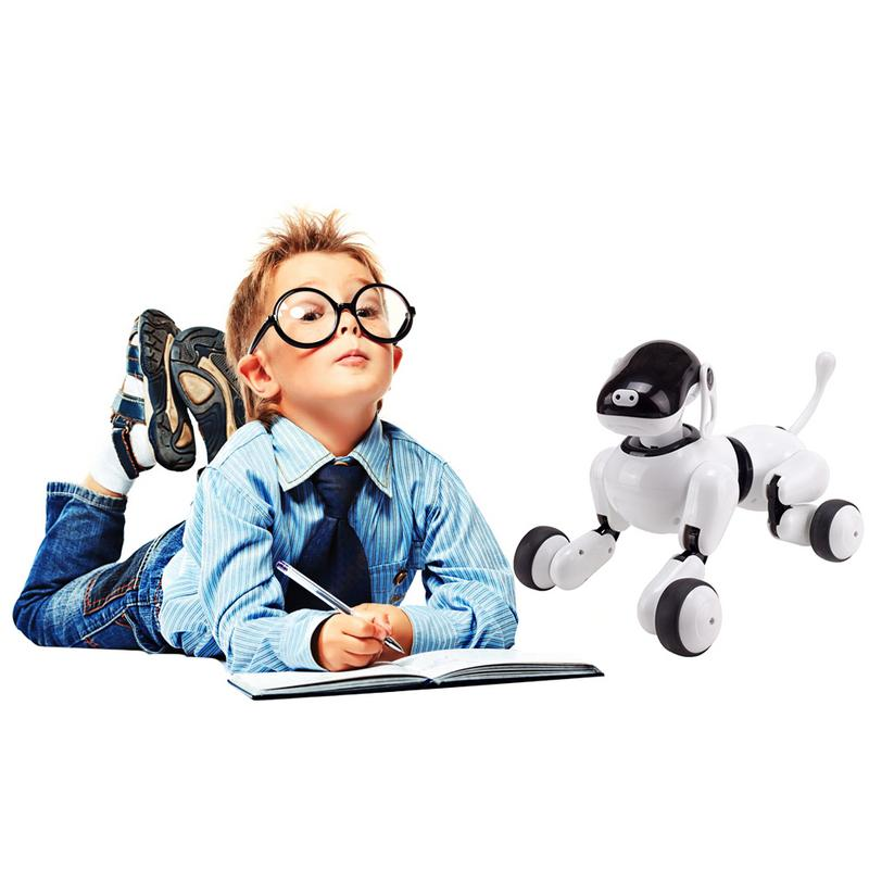 Robot vocal Intelligent jouet pour chien Application sans fil contrôlée Machine chiot interactif électronique parlant animal de compagnie pour les enfants - 5