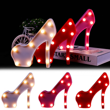 Romantic Night Lamp High-heeled shoe LED Light light 3D Fashion Home Decor  Table D40