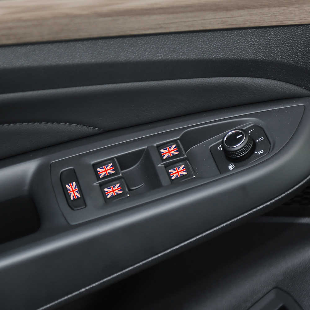 Forayto 5 peças/set 3d escudo bandeira do carro adesivo reino unido eua espanha frança emblema do carro-estilo do carro decoração decalques