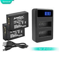 Bonacell 1500 mAh LPE17 LP E17 LP-E17 Batterie + LCD Double Chargeur pour appareil photo Canon EOS 200D M3 M6 750D 760D T6i T6s 800D 8000D Baiser X8i L10