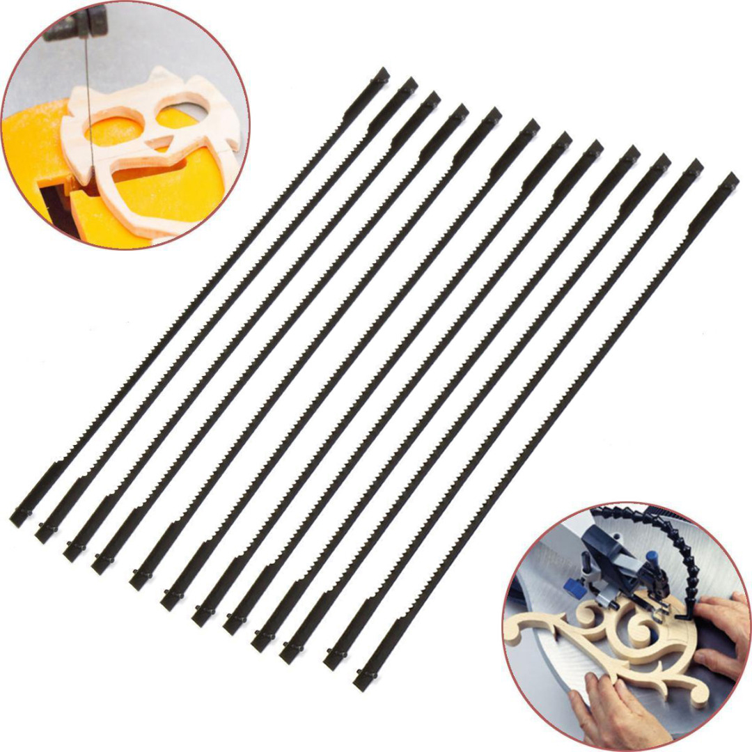 12pcs/lots New 5'' 127mm Pinned Scroll Saw Blades Woodworking Power Tools Accessories