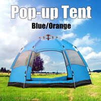 5 8 People Automatic Pop Up Instant Large Tent Waterproof Outdoor Camping Family UV Sunshade Shelter Large Family Tents 2 Colors