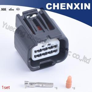 Czarny 8 szpilki samochodowe wodoodporne złącza samochodowe (0.6) kobieta 7283-2148-30 złącze samochodowe samochód elektryczny drutu obudowa wtyczki