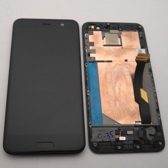 """מקורי עבור 5.2 """"HTC U לשחק LCD תצוגה + מסך מגע Digitizer עצרת עבור HTC U לשחק תצוגה עם מסגרת + לחצן בית + כלים"""