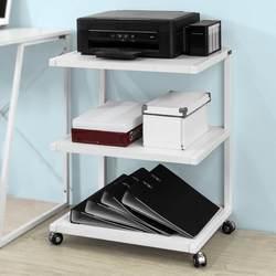 SoBuy FRG81-W настольная сторона полка для принтера, колесных принтер стенд с 3 полки, боковой стол торцевой стол