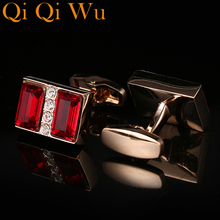 New French Shirt Cufflinks Mens Cuff Buttons Luxury Crystal Cufflink The Best Is Yet To Be Grow Old With Me Free Shipping
