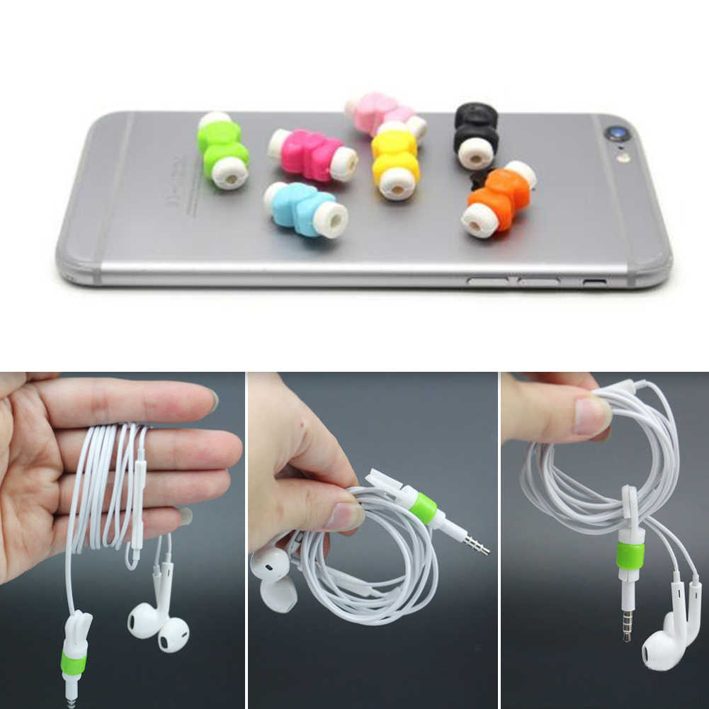 Protective sleeves cable winder cover Silicone digital cable protector Cord Protecotor for iphone  Headphone Cord