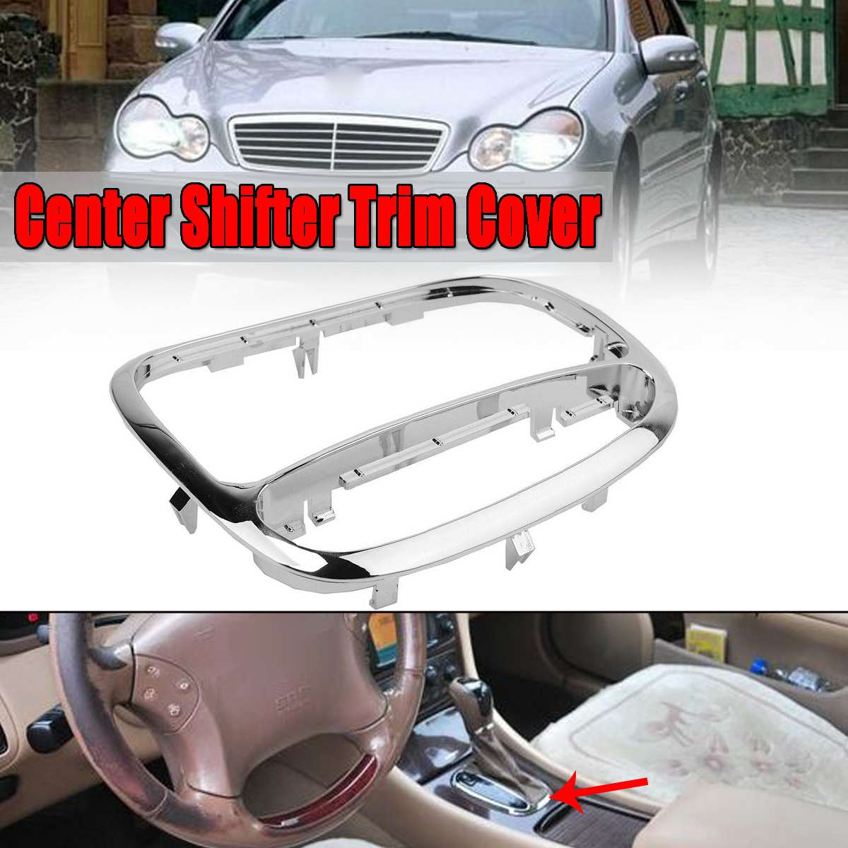 small resolution of 1x car center gear shifter panel decorative trim cover bezel fit for mercedes for benz c
