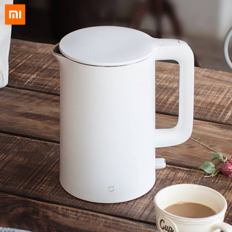 Оригинальный Xiaomi Mijia Электрический чайник 1.5L авто защита от взлета Smart бойлер мгновенный нагрев нержавеющая сталь