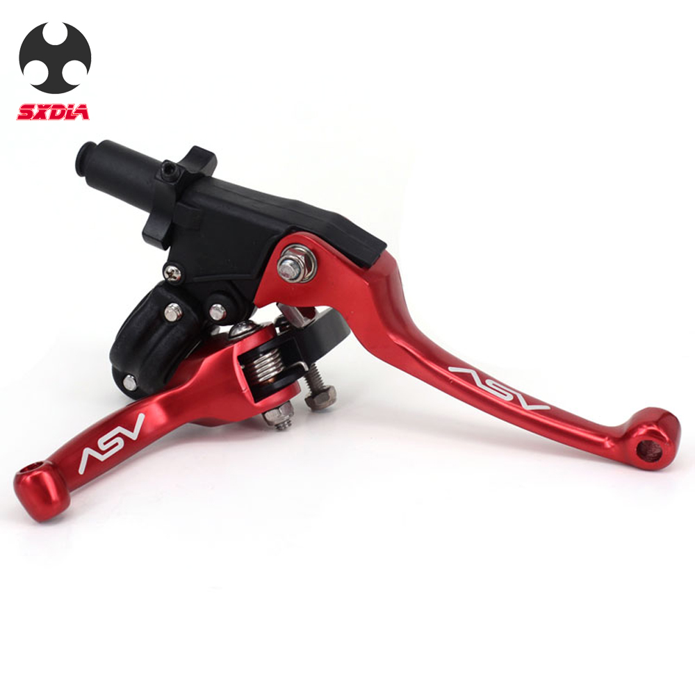 ASV F3 2nd ShortAlloy Brake & Clutch handlebar lever for Motocross Motorcycle Pitbike Dirt Pit Bike Universal Patrs Red(China)