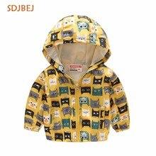 hot deal buy spring autumn children jackets girls coat hooded kids jacket flowers children outerwear&coats kiz cocuk mont