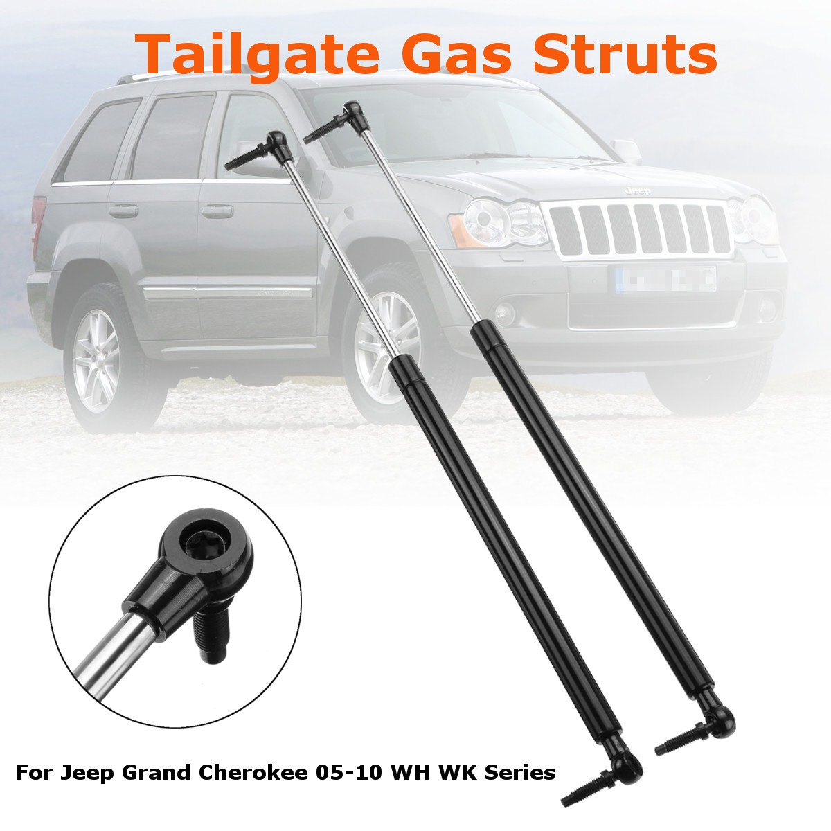 2Pcs Car Rear Tailgate Boot Gas Support Struts 55394322AA For Jeep Grand Cherokee 2005-2010