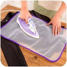Ткань для глажки при высокой температуре гладильная подушечка Бытовая защитная изоляция от нажатия подушечки доски сетчатая ткань случайные цвета
