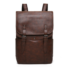 New Business Affairs Leisure Shoulders Package Male Skin Capacity leather travel Backpack men Computer mochila bagpack Mens Bag