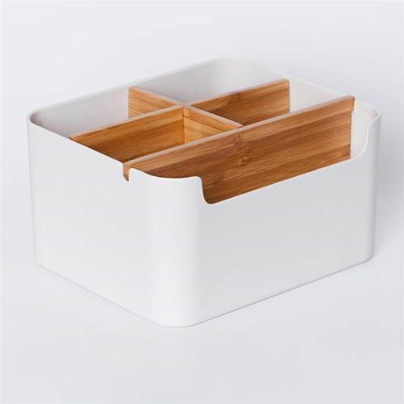 Haute qualité bambou faire grand rangement boîte bureau multifonction salle de bain organisateur maison bureau classé boîte accessoires