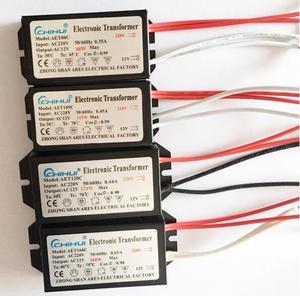 Image 1 - 3 jahre garantie Elektronische Transformator AC 220V AC12V für Halogen Lampe Kristall G4 Glühbirne 20W 40W 50W 60W 80W 105W 120W 160W