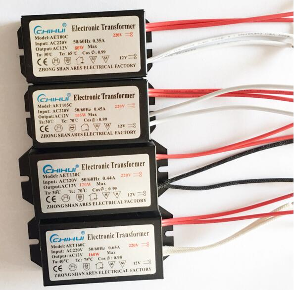 3 years warrnty Electronic Transformer AC 220V AC12V for Halogen Lamp Crystal G4 Light Bulb 20W 40W 50W 60W 80W 105W 120W 160W