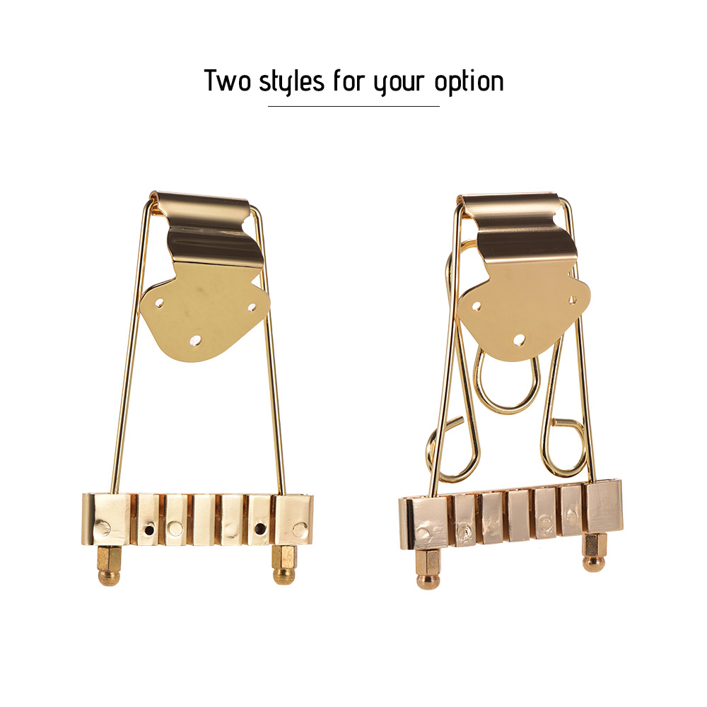 6 string guitar bridge tailpiece golden for jazz archtop guitar replacement guitar parts. Black Bedroom Furniture Sets. Home Design Ideas