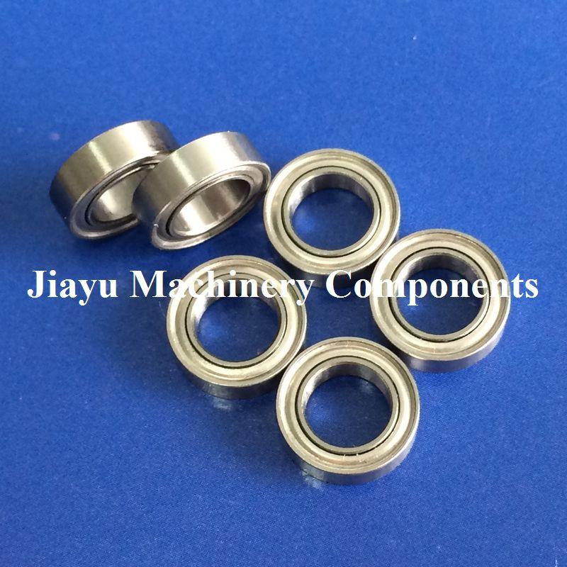 Black MR106RS 10 PCS Metal Rubber Sealed Ball Bearing MR106-2RS 6x10x3 mm