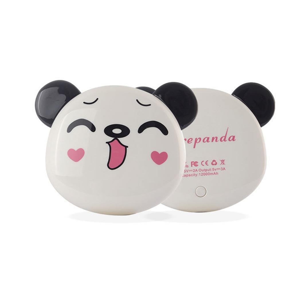 Fashion Cute Cartoon Panda Portable Dual USB Output Fast Charge Home, Office, Outdoor Power DC 5V 3A Bank